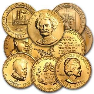 U.S. Mint 1 oz Gold Commemorative Arts Medal (Random)