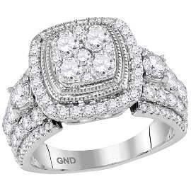 Diamond Cluster Bridal Wedding Engagement Ring 2-1/2