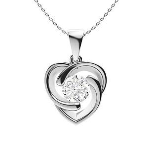 1.52 ctw Diamond Necklace 14K White Gold