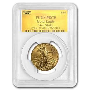 1/2 oz Gold American Eagle MS-70 PCGS (Random Year)