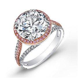 Natural 2.62 CTW Riviera Diamond Engagement Ring 18KT
