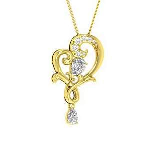 1.67 ctw Topaz & Diamond Necklace 18K Yellow Gold