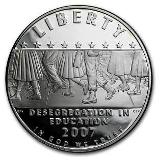 2007-P School Desegregation $1 Silver Commem Proof