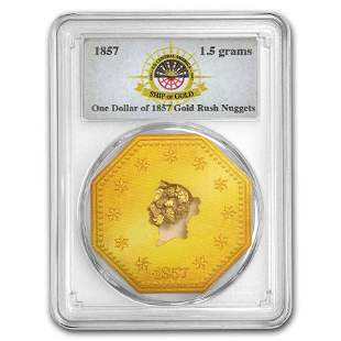 1857 S.S. Central America Gold Nuggets 1.5 Grams PCGS