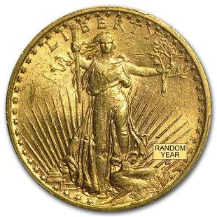$20 Saint-Gaudens Gold Double Eagle BU (Random Year)