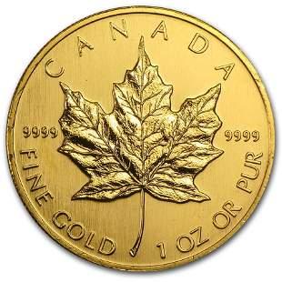 1991 Canada 1 oz Gold Maple Leaf BU