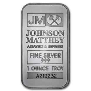 1 oz Silver Bar - Johnson Matthey