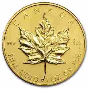 1980 Canada 1 oz Gold Maple Leaf BU