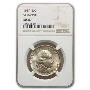 1927 Vermont Sesquicentennial Half Dollar Commem MS-67