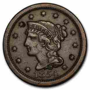 1854 Large Cent VF