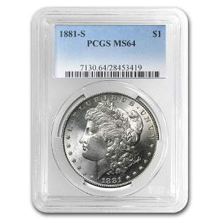 1881-S Morgan Dollar MS-64 PCGS