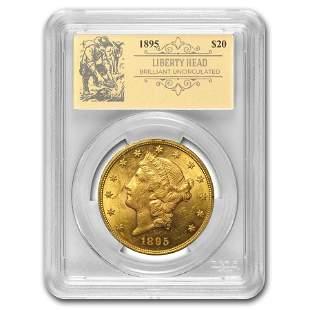 1895 $20 Liberty Gold Double Eagle BU PCGS (Prospector