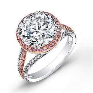 Natural 3.62 CTW Riviera Diamond Engagement Ring 14KT