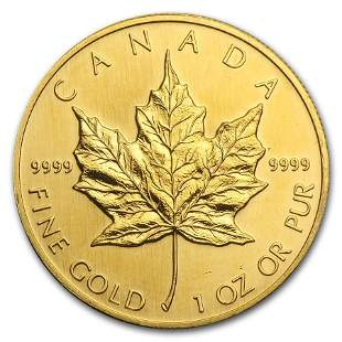 1993 Canada 1 oz Gold Maple Leaf BU