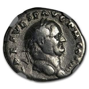 Roman Silver Denarius Emperor Vespasian (69-79 AD) Fine