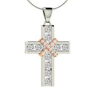 1.07 ctw Diamond Necklace 18K White Gold