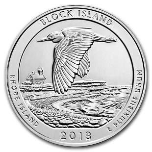 2018 5 oz Silver ATB Block Island National Wildlife
