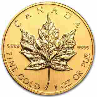 2002 Canada 1 oz Gold Maple Leaf BU
