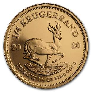 2020 South Africa 1/4 oz Proof Gold Krugerrand