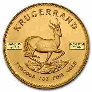 South African 1 oz Gold Krugerrand Coin BU (Random