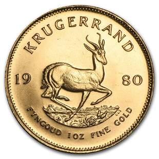 1980 South Africa 1 oz Gold Krugerrand BU