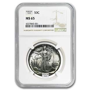 1940-1947 Walking Liberty Half-Dollar MS-65 NGC
