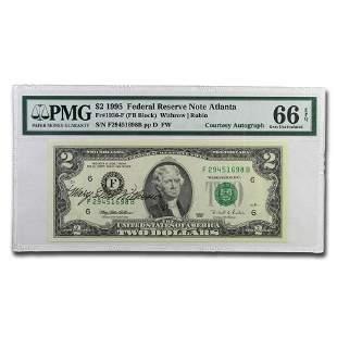 1995 (F-Atlanta) $2 FRN Gem CU-66 PMG Courtesy