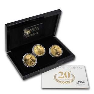 2006-W 3-Coin American Gold Eagle Anniversary Set