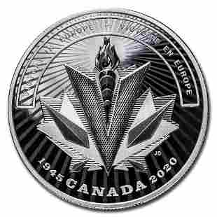 2020 Canada Ag $20 WWII Battlefront Series Victory in