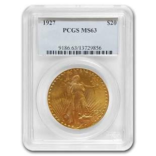 1927 $20 Saint-Gaudens Gold Double Eagle MS-63 PCGS