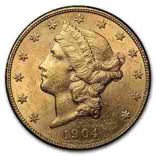 1904-S $20 Liberty Gold Double Eagle AU