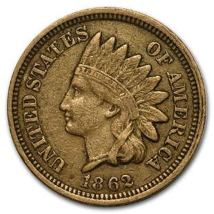 1862 Indian Head Cent VF