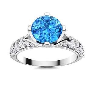 Natural 2.23 CTW Topaz & Diamond Engagement Ring 14K