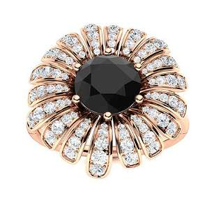 Natural 1.67 CTW Black & White Diamond Engagement Ring