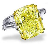 Natural 5.55 CTW Canary Yellow Cushion Cut Diamond