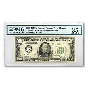 1934-A (G-Chicago) $500 FRN VF-35 PMG (Fr#2202-G)