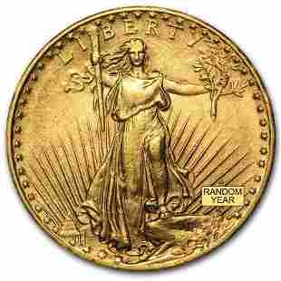 $20 Saint-Gaudens Gold Double Eagle AU (Random Year)