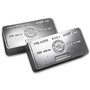 100 oz Silver Bar - Royal Canadian Mint (Vintage)