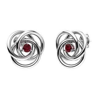 0.35 CTW Ruby Drops Earrings 18K White Gold