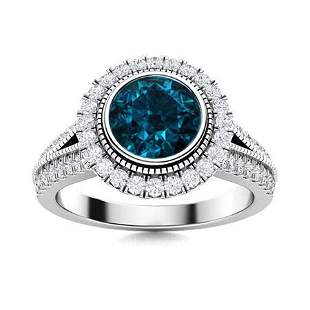 Natural 1.78 CTW Topaz & Diamond Engagement Ring 14K