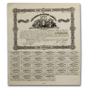 1861 $1000 CSA Bond 8% / 15 yr Winder/Tyler (CR-94)