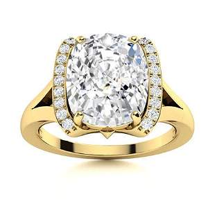 Natural 3.62 CTW Topaz & Diamond Engagement Ring 14K