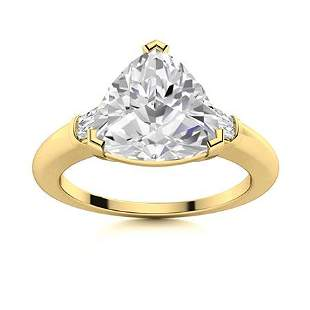 Natural 2.17 CTW Topaz & Diamond Engagement Ring 14K
