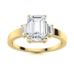 Natural 1.71 CTW Topaz & Diamond Engagement Ring 14K