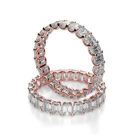 Natural 3.02 CTW U-Setting Emerald Cut Diamond Eternity