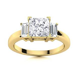 Natural 0.96 CTW Topaz & Diamond Engagement Ring 18K