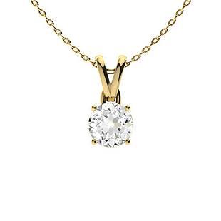 0.62 ctw Diamond Necklace 14K Yellow Gold