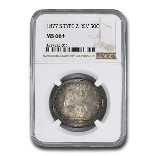 1877-S Liberty Seated Half Dollar MS-66+ NGC (Type-II
