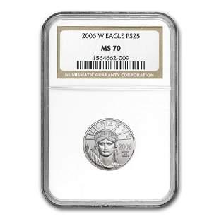 2006-W 1/4 oz Burnished American Platinum Eagle MS-70