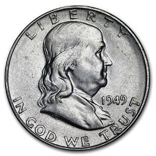 1949-S Franklin Half Dollar AU